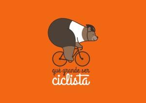 oso que grande ser ciclista